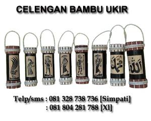 """Souvenir Celengan Bambu Ukir Unik"""